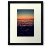 Sunset Sail in Mykonos Framed Print