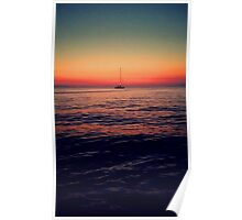 Sunset Sail in Mykonos Poster