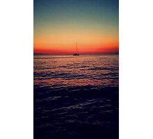 Sunset Sail in Mykonos Photographic Print