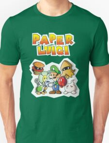 Paper Luigi Colored Unisex T-Shirt