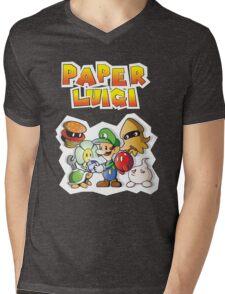 Paper Luigi Colored Mens V-Neck T-Shirt