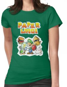 Paper Luigi Colored Womens Fitted T-Shirt