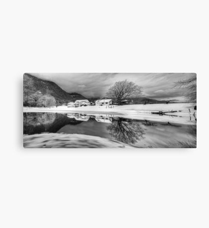 Percy Farm in Black and White Canvas Print