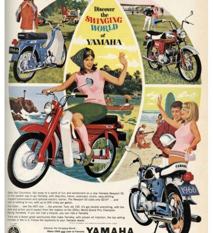 Yamaha ad in old magazine Sticker
