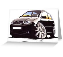 Skoda Fabia vRS Black Greeting Card