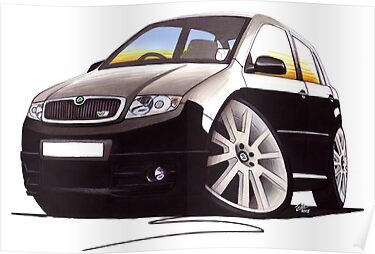 Skoda Fabia vRS Black by Richard Yeomans