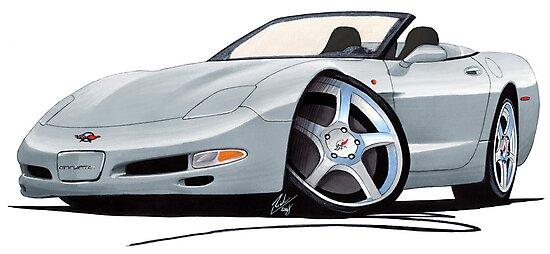 Chevrolet Corvette C5 Convertible Silver  by Richard Yeomans