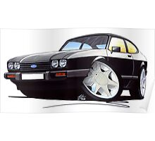Ford Capri (Mk3) Black Poster