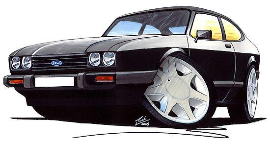 Ford Capri (Mk3) Black by Richard Yeomans
