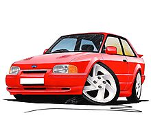 Ford Escort RS Turbo S2 Red Photographic Print