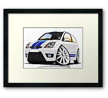 Ford Fiesta ST (Facelift) White Framed Print