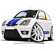 Ford Fiesta ST (Facelift) White Photographic Print