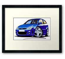 Ford Focus RS Blue Framed Print