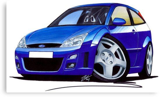 Ford Focus RS Blue by Richard Yeomans
