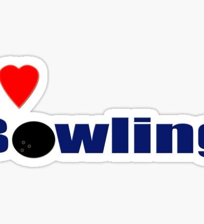 I Love Bowling T-Shirt Sticker