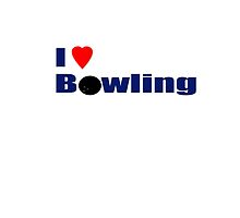 I Love Bowling T-Shirt by deanworld