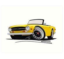 Triumph TR6 Yellow Art Print
