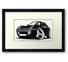 Smart Roadster (BLK) Black Framed Print