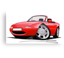 Mazda MX5 / Miata (Mk1) Red Canvas Print