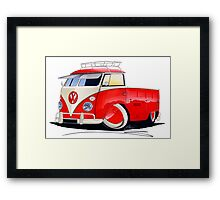 VW Splitty Pick-Up (Custom A) Framed Print