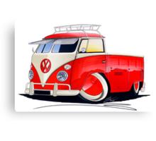 VW Splitty Pick-Up (Custom A) Canvas Print