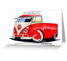 VW Splitty Pick-Up (Custom A) Greeting Card