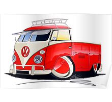 VW Splitty Pick-Up (Custom A) Poster