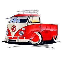 VW Splitty Pick-Up (Custom A) Photographic Print