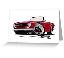 Triumph TR6 Carmine Red Greeting Card