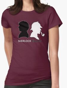 Sherlock vs. Holmes Womens Fitted T-Shirt