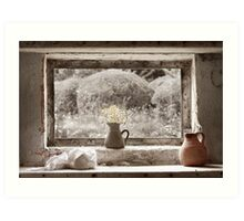 Flowers In The Window Art Print