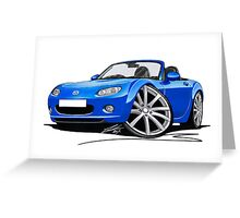 Mazda MX5 (Mk3) Blue Greeting Card