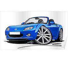 Mazda MX5 (Mk3) Blue Poster