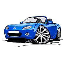 Mazda MX5 (Mk3) Blue Photographic Print
