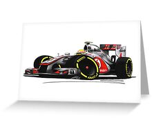 F1 2012 - McLaren MP4-27 - Lewis Hamilton Greeting Card