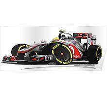 F1 2012 - McLaren MP4-27 - Lewis Hamilton Poster