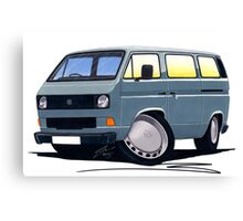 VW T25 / T3 Grey Canvas Print