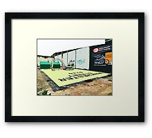 A Giant Sized Game of Monopoly Framed Print