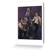 kids playing with death Greeting Card
