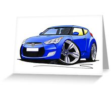 Hyundai Veloster Blue Greeting Card