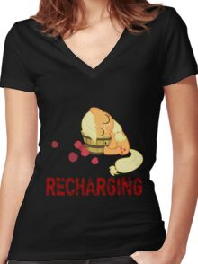 Recharging Women's Fitted V-Neck T-Shirt
