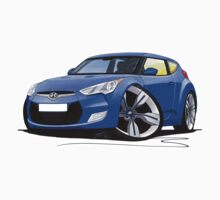 Hyundai Veloster Blue by Richard Yeomans