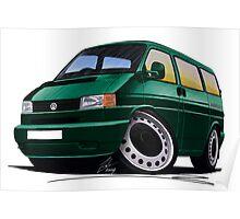 VW T4 Dark Green Poster