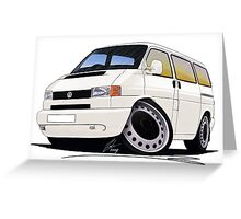 VW T4 White Greeting Card