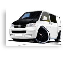 VW T5 (A) White Canvas Print