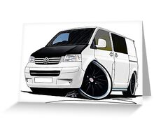 VW T5 (A) White Greeting Card
