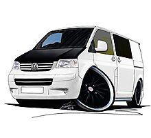 VW T5 (A) White Photographic Print