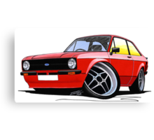 Ford Escort (Mk2) Mexico Red Canvas Print