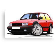 VW Polo (Mk3) G40 Red Canvas Print