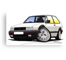 VW Polo (Mk3) G40 White Canvas Print